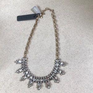 J CREW ☆ Gold Diamond Statement Necklace